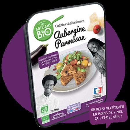 Galettes végétarienne Aubergine et aParmesan Bio