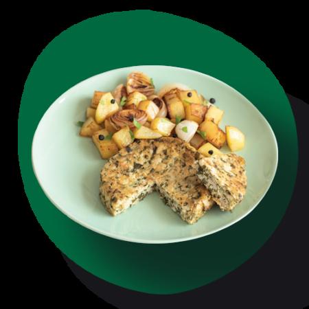 Galettes végétarienne épinards emmental Bio