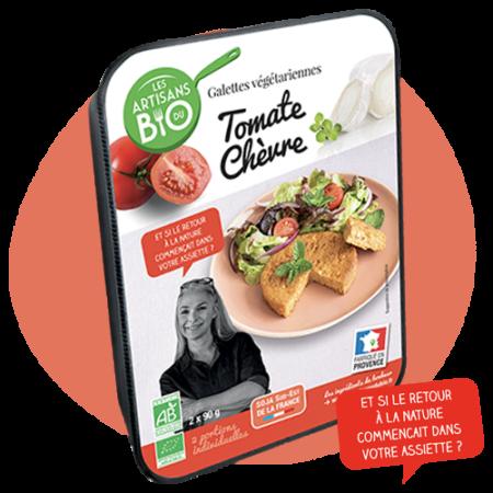 Galettes végétarienne Tomate chèvre Bio