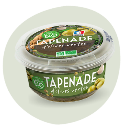 Tapenade aux olives vertes Bio